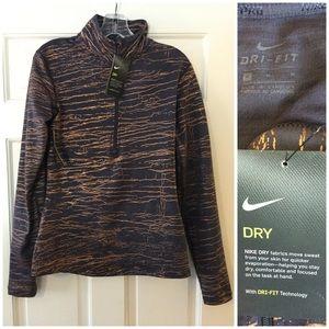 Nike Pro Dry Dri-Fit half zip top gray M athletic